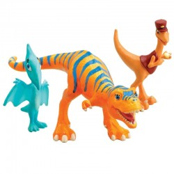 Set figurine Dinosaur Train-Mr. Conductor, Dolores & Shiny