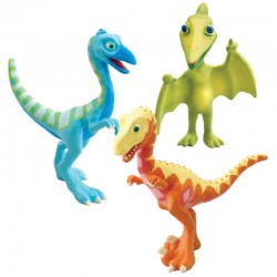 Set figurine Dinosaur Train-Mr. Pteranodon, Derek & Ollie