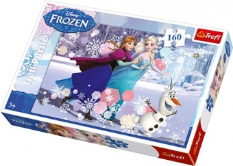 Puzzle 160 piese - Anna, Elsa si Olaf
