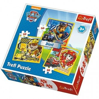 Puzzle Paw Patrol - 3 in 1
