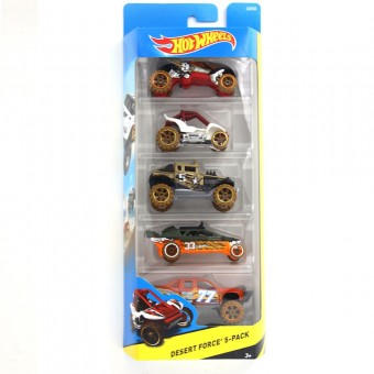 Set 5 masinute Desert Force - Hot Wheels