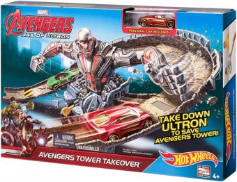 Set Avengers Tower Takeover - Hot Wheels