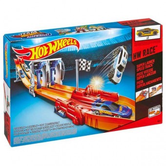 Set Pista de viteza cu super lansare - Hot Wheels