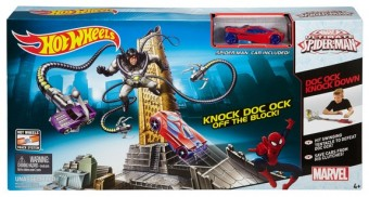 Set Pista Spiderman contra Doctor Octopus - Hot Wheels